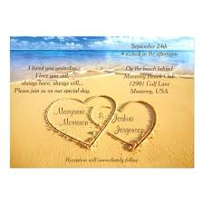 Rustic Beach Wedding Invitations Names In Hearts On The Invitation