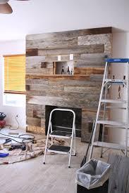 DIY Reclaimed Wood Fireplace Kristi Murphy