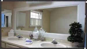 Framed Bathroom Mirrors Ideas - YouTube Mirror Ideas For Bathroom Double L Shaped Brown Finish Mahogany Rustic Framed Intended Remodel Unbelievably Lighting White Bath Oval Mirrors Best And Elegant Selections For 12 Designs Every Taste J Birdny Luxury Reflexcal Makeover Framing A Adding Storage Youtube Decorative Trim Creative Decoration Fresh 60 Unique