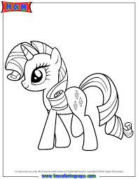 Hasbro Playful Pony Rarity Coloring Page