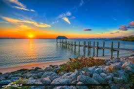 Bathtub Beach Stuart Fl by Stuart Florida Sunset At Waterway Pier