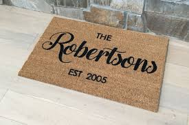 Interior and Exterior Door Mats Wel e Mat Personalized Doormat