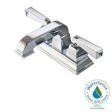 American Standard Faucets Bathroom by American Standard Fluent 4 In Centerset 2 Handle Bathroom Faucet