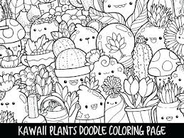 Coloring Pages Flowers Pdf Plants Doodle Page Printable Cute Of I Love Ice Cream For Kids
