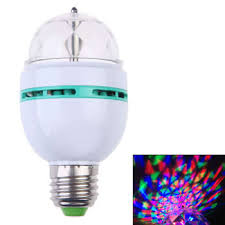 3W 85 260V Colorful Auto Rotating RGB Crystal LED Stage Light