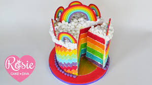 How to make a Rainbow Layer Cake Layering and stacking a cake