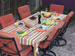Square Patio Table Tablecloth With Umbrella Hole by Custom Tablecloths Outdoor Living Tablecloths Easy Care Long