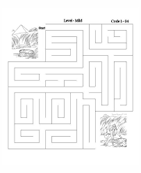 Baby Moses Bible Lesson Maze Puzzle Activity Sheets Sunday School And VBS