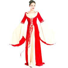Red Renaissance Princess Fancy Dresses European Retro Medieval Fantasias Outfit Uniform Womens Halloween Themed Party Costume