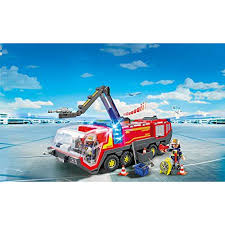 100 Airport Fire Truck Playmobil Engine With Lights And Sound Building Set