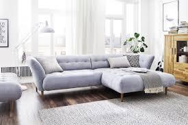 kawola ecksofa nala sofa longchair rechts stoff hellblau
