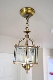 three oversized lantern lights for the hallway house