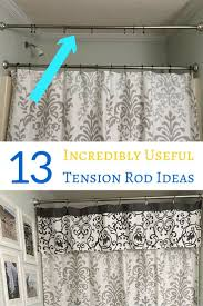 Floor To Ceiling Tension Rod Shelves by Best 25 Tension Rod Curtains Ideas On Pinterest Kitchen