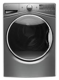 4 5 Cu Ft Front Load Washer with Steam in Chrome Shadow