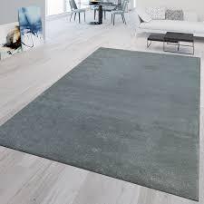 kurzflor teppich waschbar uni silber