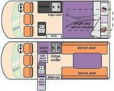 Toyota Hiace Campervan Layout