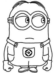Printable Disney Two Eyed Minion Despicable Me Coloring Pages