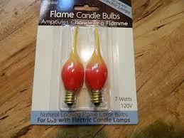 7 watt yellow candle light bulbs set of two candle
