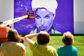 Big Ang Mural Unveiling by In Chanhassen A Purple Mural For The Purple One Startribune Com