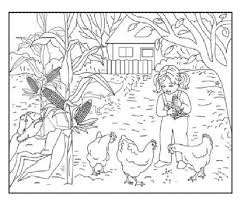 Coloring Page Landscape Nature 44