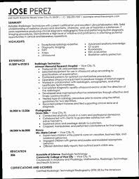 X Ray Tech Resume 9XOV Best Radiology Technician Example