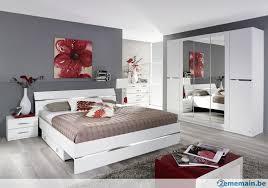 chambre complete blanche 160 cm chambre complète blanche avec sommiers et matelas a