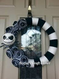 jack skellington wreath nightmare before christmas wreath black