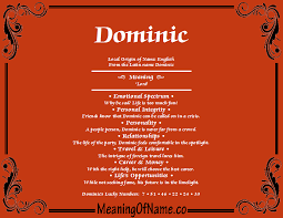 Dominic Meaning of Name