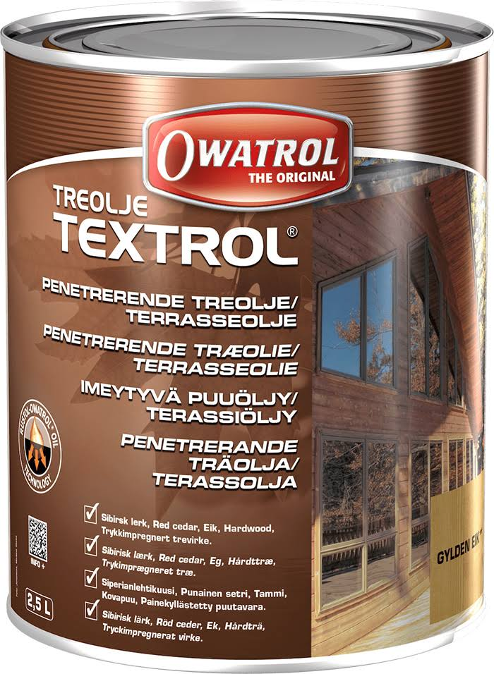 Owatrol Textrol Penetrating Wood Oil - Clear, 2.5L