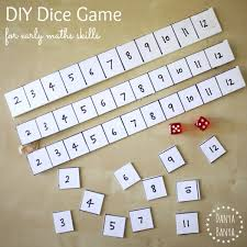 DIY Dice Game For Early Maths Skills