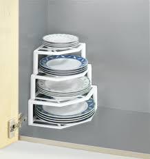eck tellerablage schrankeinsatz küche schrank organizer