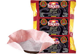 Folgers Flaked Coffee Black Silk Filter Packs Foodservice