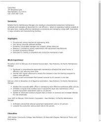 11 Sample Resume For Facility Manager In India Kinglena