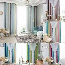 details zu vorhang verdunkelnd garn tüll gardinen verdunkelung doppelschicht schlafzimmer