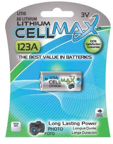 Cell Max Lithium Battery - 123A, 3V