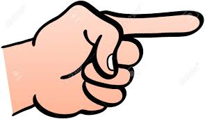 Pointing finger clenched left fist clipart