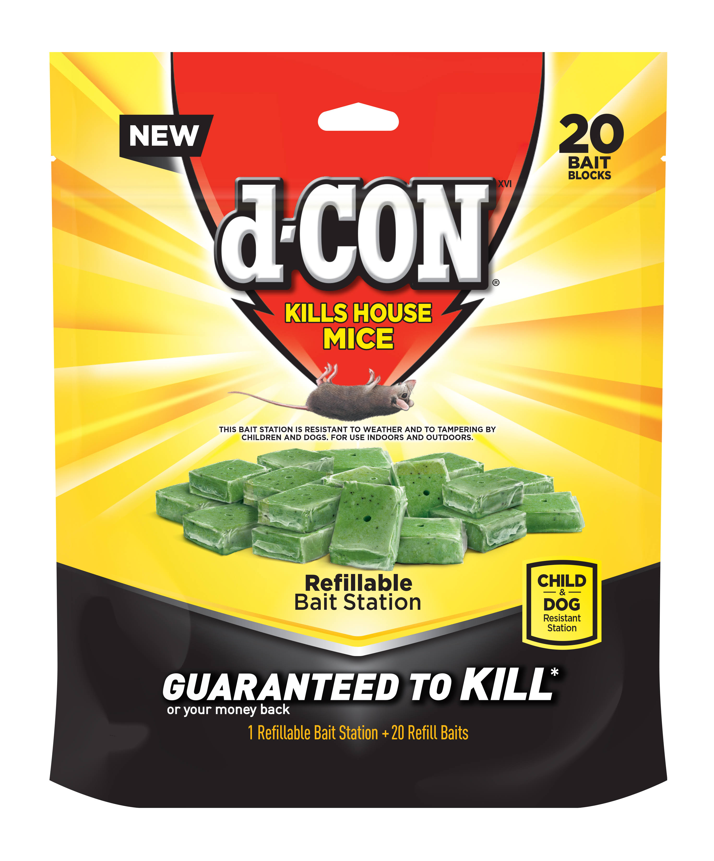 D-Con Refillable Bait Station - 24 Bait Refills