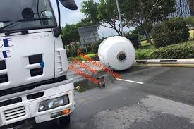 Cement Mixer Drum Falls Off Truck In Accident At Sheares Avenue ... Cement Truck Stock Photos Images Alamy Truck Crash On I64 At Lee Hall Kills The Driver Overturns In Bolobedu Letaba Herald Accident Gabriola British Columbia Canada Flips Over Roadway Vs Motorcycle Crash Howe St Pond Methuen Rolls Highway 224 Driver Taken Away By Tampines Cementmixer Charged Singapore Somehow No One Was Seriously Injured In This Wreck With A 5 Freeway Fully Reopens Gndale After Overturns Ktla 2nd Wreck One Week For Cement Company Young News