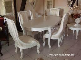 details zu esszimmer garnitur speisezimmer esstisch stuhl weiß barock vintage stil neu