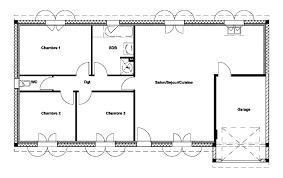 plan maison 90m2 plain pied 3 chambres plan plain pied 3 chambres