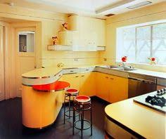 Art Deco Style Kitchen In Yellow This Is Probably A Mid Century Design But Absolutely