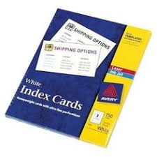 Avery Laser Inkjet Printers Index Cards