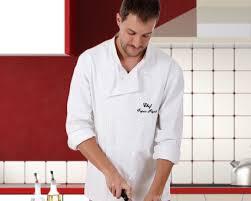 veste de cuisine homme brodé la veste de cuisinier personnalisée