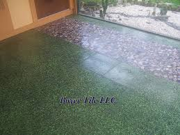 Ceramic Tile Outdoors Patio Tile Installation Boyer Tile
