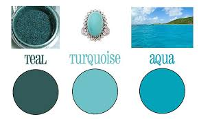 Differences Between Turquoise Teal And Aqua