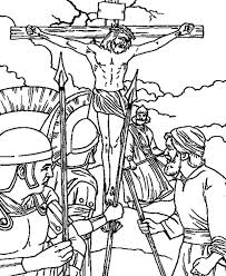 Good Friday Coloring Pages Crucifixion Of Jesus Christ