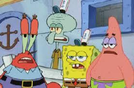Spongebob Squarepants Characters Stare And Leave