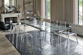 contemporary dining table glass rectangular extending