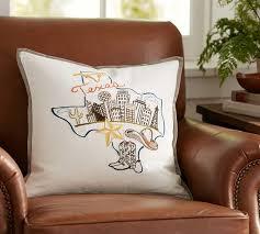 Pottery Barn Decorative Pillows by Texas City Pillow Cover Pottery Barn Texas Our Texas