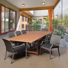 Rectangular Patio Dining Table Design